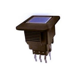 Square LED self-locking switch, square mini light-emitting button switch ANJ-58D-08
