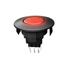 ANJ-58D-09, illuminated, illuminated, graphic, pushbutton switch with illuminated circular self-locking switch